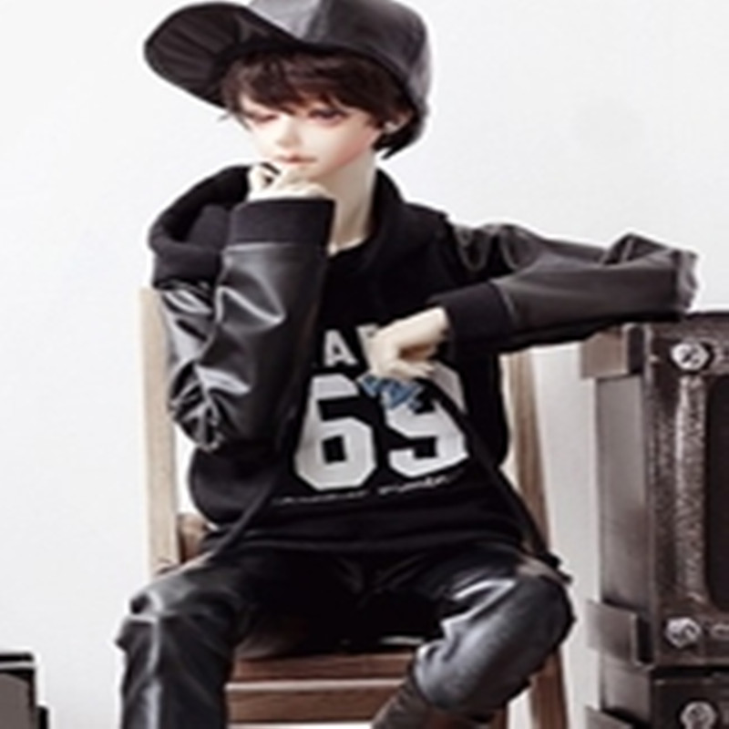 BJD doll clothes bjd suit uncle jacket sweater coat spot -1/3 accept custom european style black leather suit bjd uncle 1 3 sd ssdf doll clothes