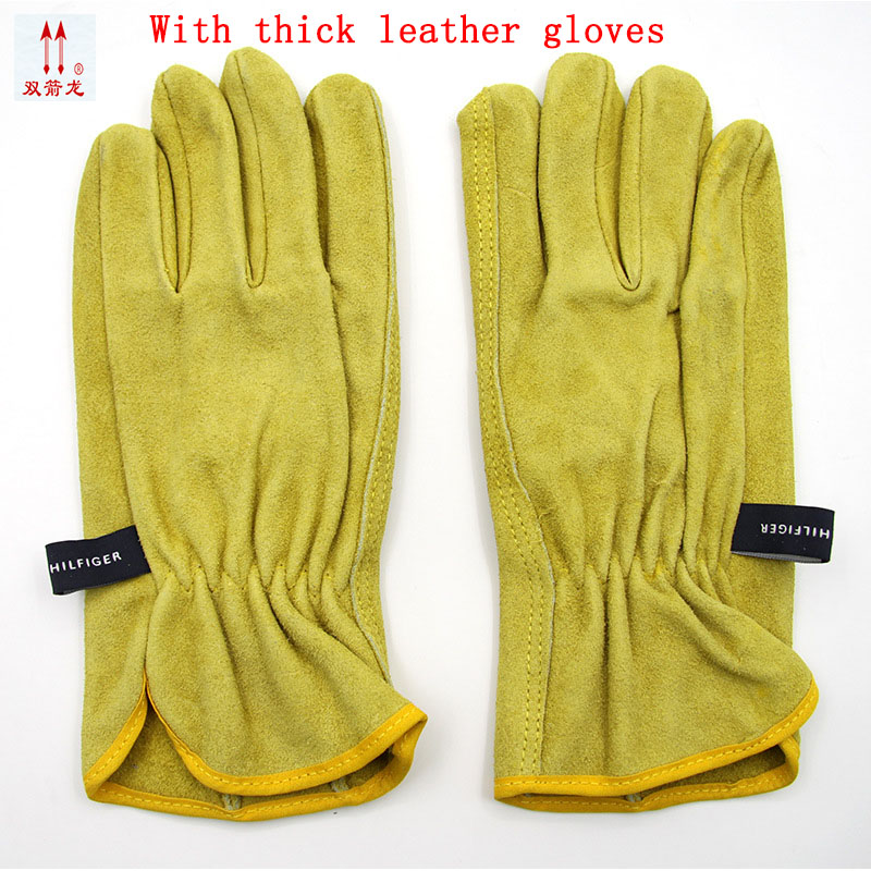 The new 2017 guantes trabajo yellow anti cut driving gloves second grade A cowhide gants travail hommes the new 2017 guantes trabajo yellow anti cut driving gloves second grade a cowhide gants travail hommes