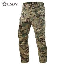 Summer Thin Breathable Camouflage Tactical Training Pants Male Outdoor Sports Hiking Climbing Wearproof Quick Dry Trousers