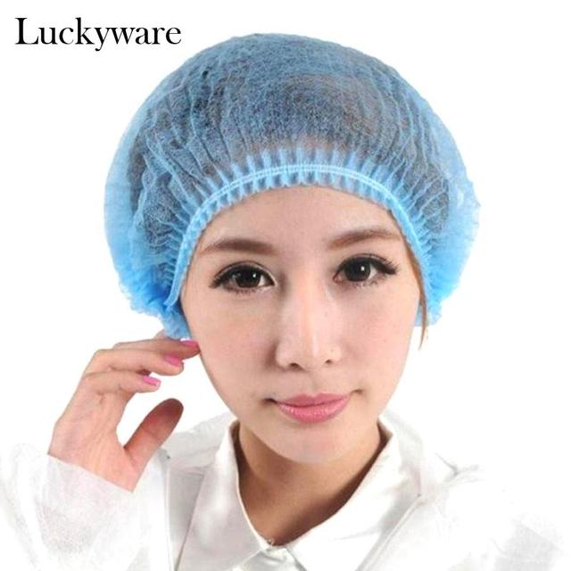 10Pcs Multi-function Caps Dustproof Disposable Lightweight Non-woven fabric Elastic Hair  Protector Hat Unisex Home Bathroom