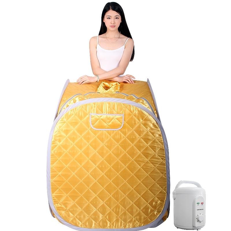 Портативный Паровая сауна с парогенератором ёмкость 2L потеря веса домашняя Паровая Сауна для ванной spa расслабляет уставшие 110В или 220В 900 Вт