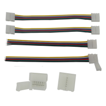5pcs/lot 12mm 6pin LED RGB+Cold White+Warm White Strip Light Quick Connectors No Welding Easy Solution&6pin Connector Clip