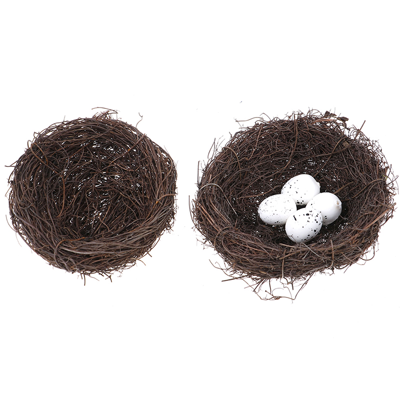 Micro Fairy Garden Decoration Miniature Figurine Toys Crafts DIY Accessories Artificial Birds Nest Simulation Eggs Model
