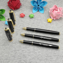 Personalized wedding party favors unique gold clip pen custom free with any logo text heart sign or other symbol 10pcs/lot