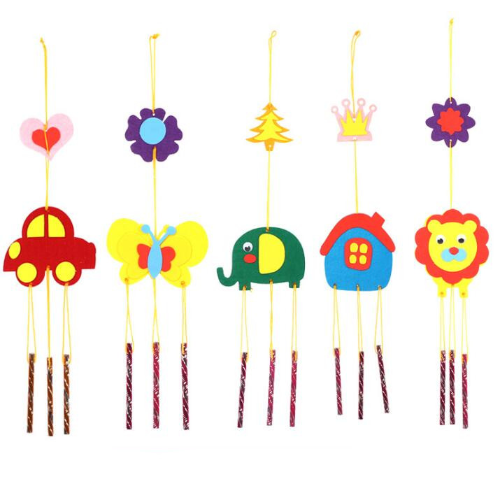 No Free Shipping/ Children Hand Made DIY Toy Cloth Woven Campanula Cartoon Animal Indoor Ornaments Creative Material BS71