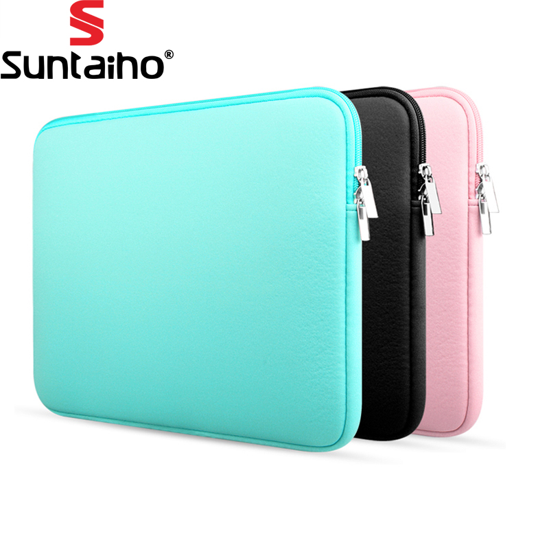 Newest Soft Laptop Sleeve Bag Protective Zipper Notebook Case Computer Cover for 11 13 14 15 inch For Macbook Air Pro Retina