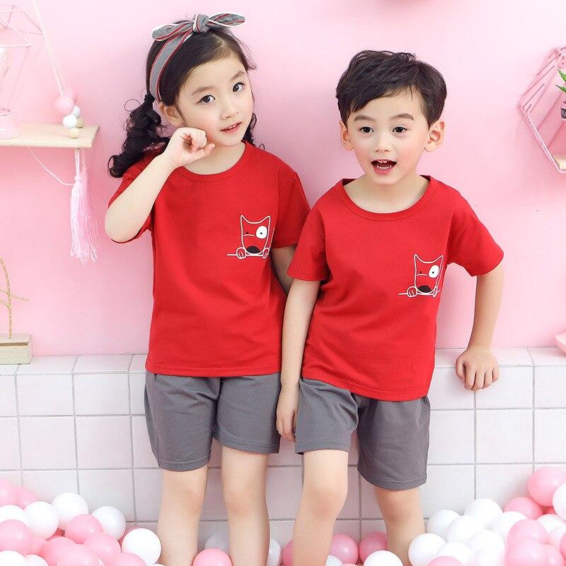 Baby   Pajamas   Summer Cotton Short-sleeved Boys Girls Clothing   Sets   Children Cartoon Sleepwear Kids Pyjamas Enfant Child Pyjama
