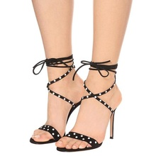 Ladies Footwear Luxury Bling Glittering Pearls Lace-up Gladiator Sandals Rhinestone High Heel Wedding Dress Shoes