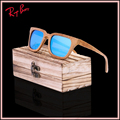 2017 New Fashion Products Men Women Glass Pure Wood Sunglasses au Retro Vintage Wood polaroid Lens Wooden Frame Hand made UV400