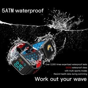 Image 5 - الذكية الرياضة ووتش SN60 الروبوت IOS القلب معدل الرجال النساء سوار ضغط الدم جهاز تعقب للياقة البدنية اللون للماء النشاط الفرقة