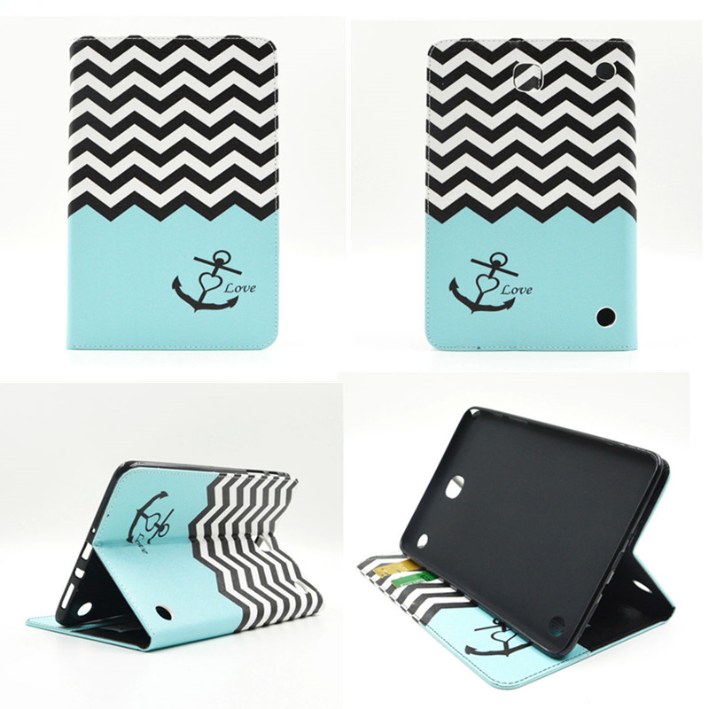 BF Full Protective PU Leather Cover Case for Samsung Galaxy Tab A 8.0 SM T350 T351 T355 Luxury Cute Tablet Case with Card Slot
