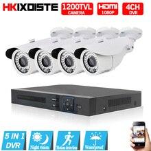 4CH Security Camera System AHD 1080N HDMI DVR 720P  1200TVL IR Outdoor CCTV Camera Home Video Surveillance Kits Email Alert