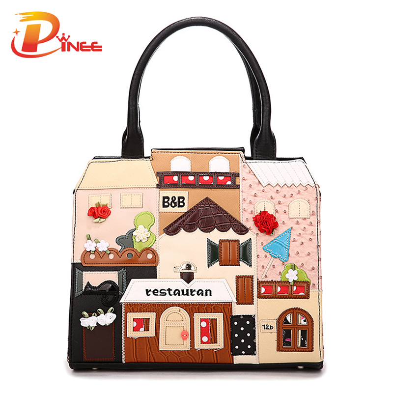 Borse Casual : High quality casual handbag ladies pu leather cube bag