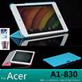 Para acer iconia a1-830 ultra-fino couro suporte capa case para acer iconia a1-830 a1 830 7.9 tablet case + protetores de tela