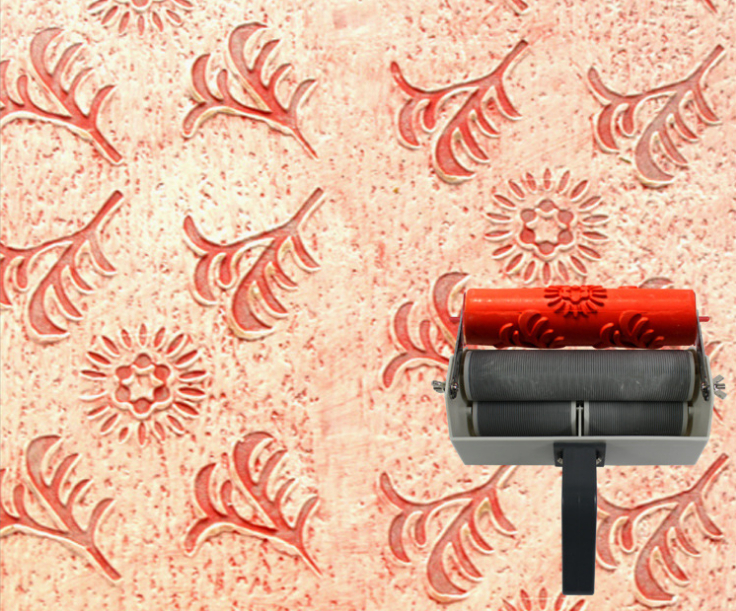 Wall Printing Mould Patterned Roller For Wall Decoration 7