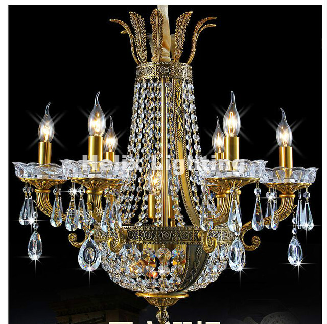 Newly Modern Brass Luxury Crystal Chandelier Color For Home Hotel Decoration Led Ac