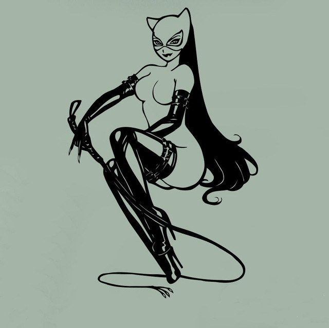 12 73 27 De Réduction Catwoman Sticker Mural Catgirl Comics Super Héros Affiche Vinyle Autocollant Dessin Animé Maison Chambre Décor Intérieur Art