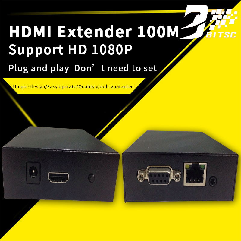 SZBITC 4K HDMI extender 100m over single cat5E/cat6 Transmitter Receiver Support 3D 1080P 80 channels hdmi to dvb t modulator hdmi extender over coaxial