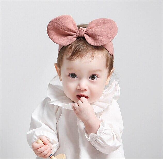 Chaud pour bébé mignon enfants Bow Bandeau Turban Noeud Lapin Bandeau Coiffure