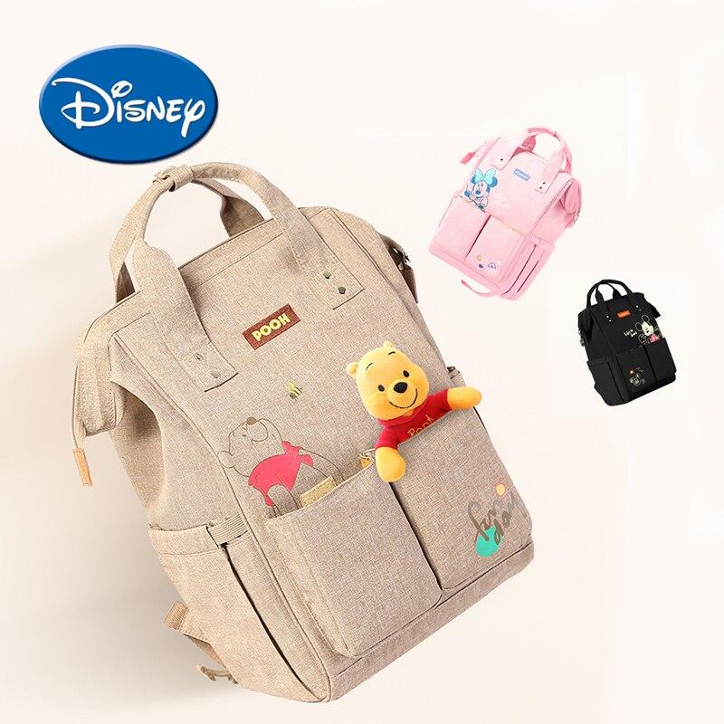 Disney USB Charge Diaper Bag Heat Preservation Maternity Travel Backpack Large Capacity Nursing Bag Baby Care Nappy Backpack