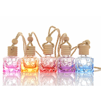 7ml Home Car Hanging Air Freshener Perfume Fragrance Diffuser Empty Glass Bottle Auto Ornament Refillable Bottles 200pcs/lot