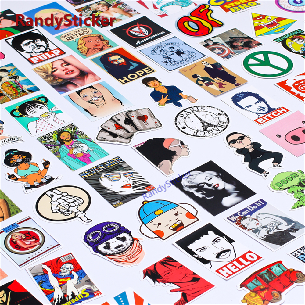 100 Random Mixed Hot Sale Home Decor Laptop Sticker For