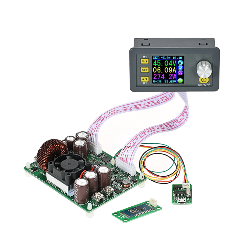 LCD Digital Programmable Control Buck Boost Power Supply Module Constant Voltage Current DC 0 50 00V