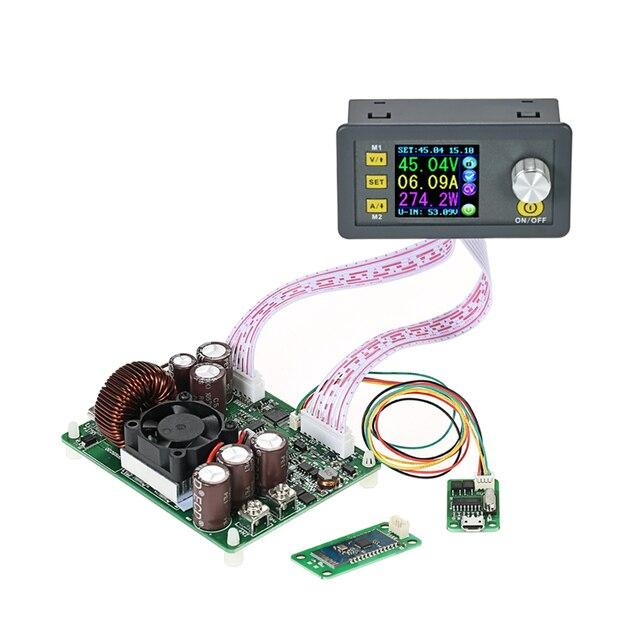 Saída dps5020 da corrente constante dc 0 50.00 v/0 20.00a do módulo da fonte de alimentação do buck impulso do controle programável digital do lcd