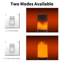 Dynamic LED Flame Effect Fire Light Bulb E27 Lamp 220V E26 Flickering Decoration 12V E14 Christmas Creative