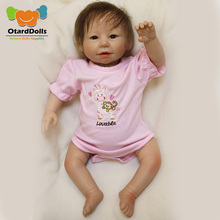 OtardDolls Cute BeBe Reborn Doll PP Cotton Body 50cm Silicone Reborn Baby Dolls Lifelike Newborn Baby Gift Juguetes Babies Toys 50cm reborn babies dolls toys for children soft cloth body silicone vinyl newborn baby dolls high quality doll toys xmas gift