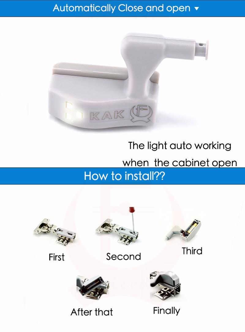 10 шт. как Turner светодиодный свет универсальный кухня span Got шкаф 0.25 вт внутренняя датчик свет аппарат средства