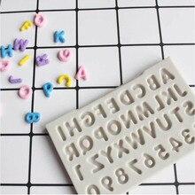 Креативные буквы Алфавит силиконовые формы прописные инструменты для украшения тортов из мастики Gumpaste шоколад Fimo глина конфеты формы
