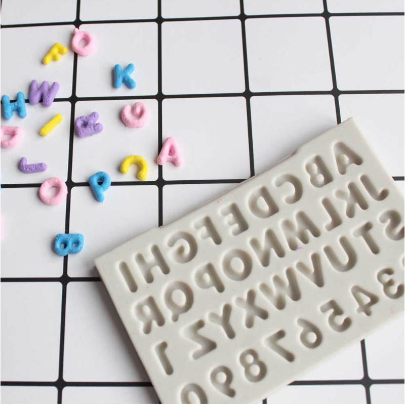 Candy Moulds Clay Decorating-Tools Alphabet Chocolate Fondant Cake Letters Gumpaste Fimo title=