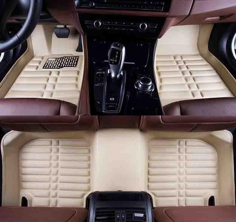 Personnalisé tapis de sol de voiture pour Jaguar XF XE XK XJL F-PACE F-TYPE E-PACE XEL XFL I-PACE Tesla Model S Modèle X auto accessoires coiffure