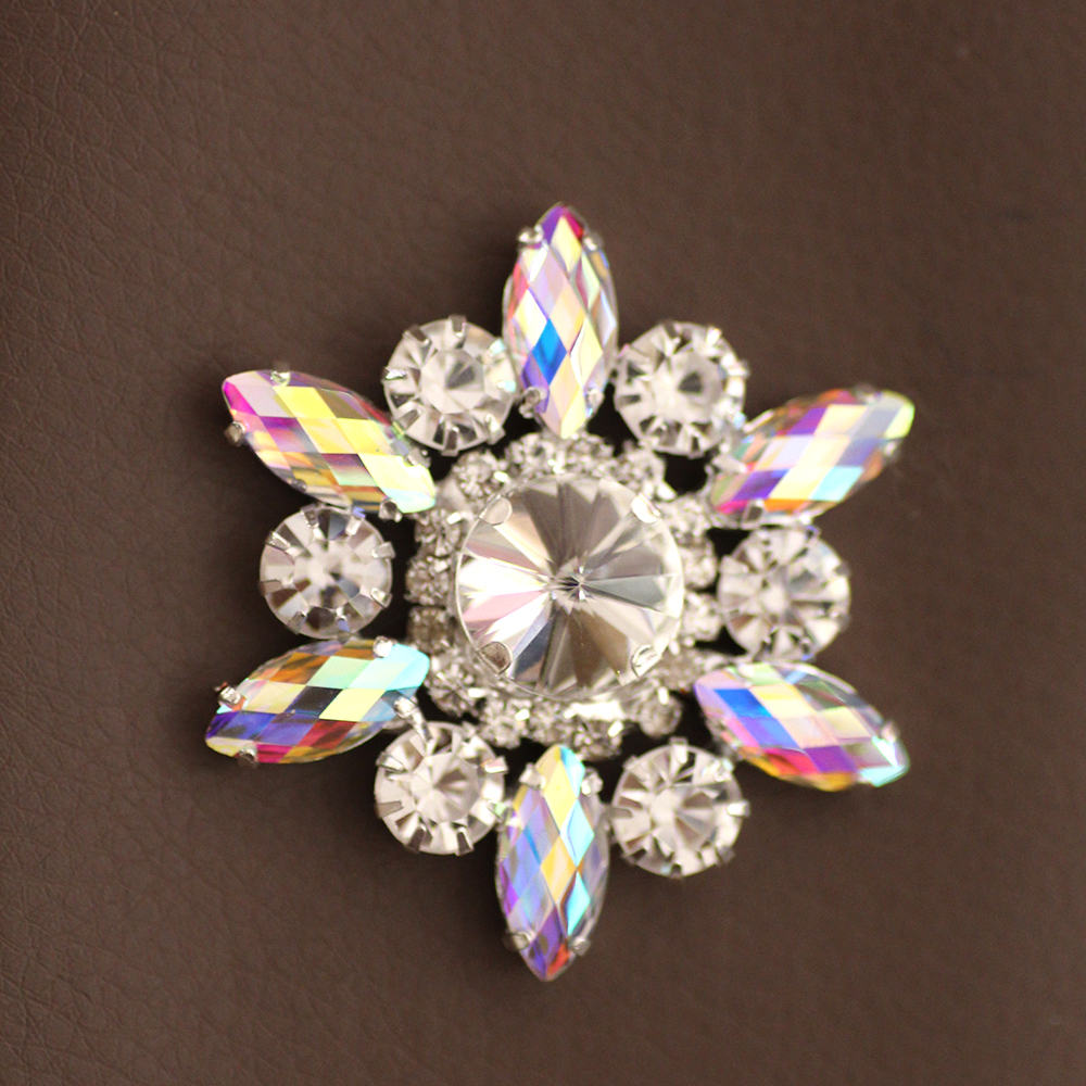 1pcs 50mm Colorful Flower Shape Sew On Rhinestone With Claw Setting Silver  Back Fancy Stone Rhinestone applique For Dress-in Rhinestones from Home    Garden ... 4f1dbc4fc9f6