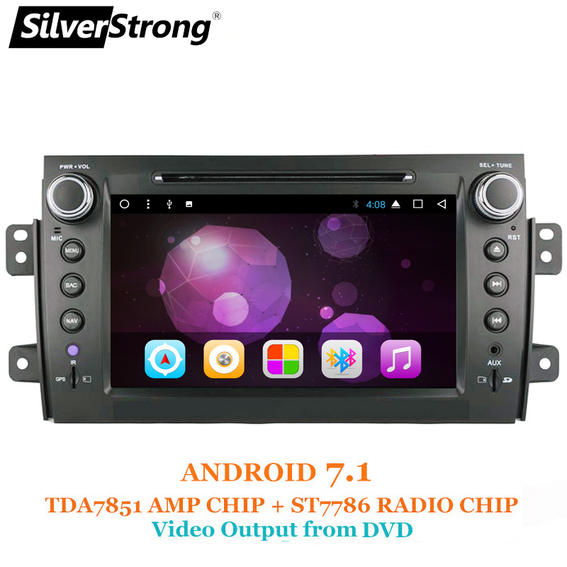 SilverStrong Android7.1 SX4 Android Screen for SUZUKI SX4 Car DVD Android Radio CAR GPS silverstrong 8inch 2din android7 1 radio car dvd for suzuki sx4 mp4 mp3 radio navitel gps navi