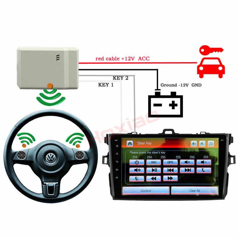 Tự động Phổ Không Dây Car Chỉ Đạo Wheel Từ Xa Điều Khiển Nút Cho Âm Thanh Stereo DVD GPS chơi