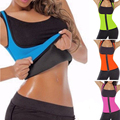 4 Color Neoprene Sweat Sauna Hot Body Shaper Fat Burner Top Workout Vest Waist Trainer Control Tummy Weight Loss Zip Shapewear