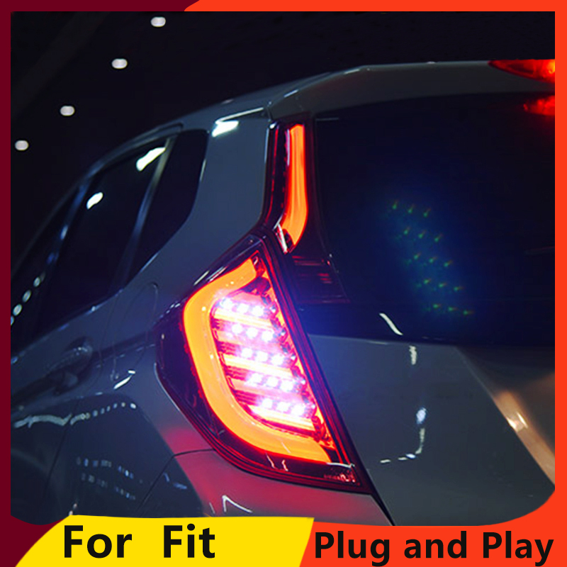 KOWELL Car Styling for Honda Jazz Fit TAIL Lights LED Tail Light LED Rear Lamp DRL