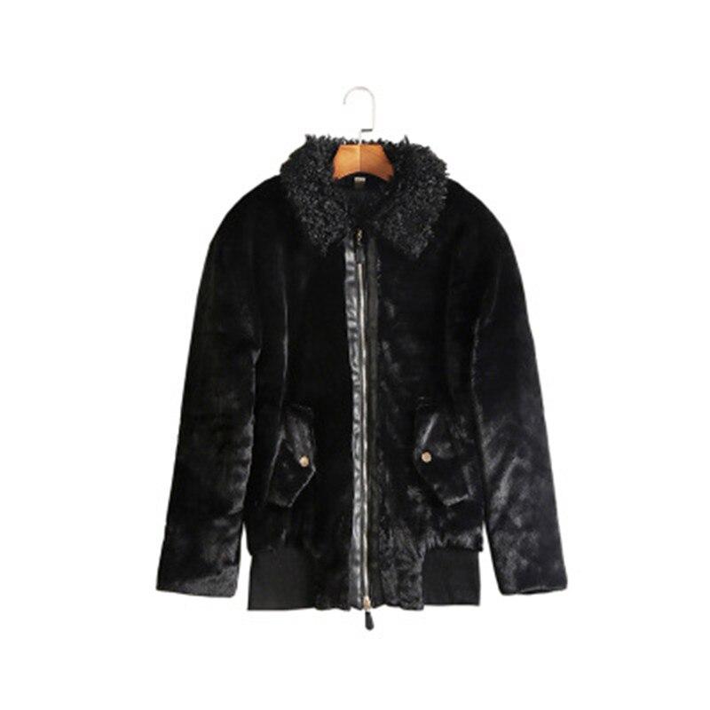 Femmes Épais Coton Européenne Chaud 2018 Manteau Survêtement Hiver Et Occasionnel Court Mince Femelle Parka De Mode Automne Black Yy022 gq1Zxdq