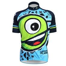 SportsWear extranjero Riendo Planeta Cafe Patrón Ropa de la Bici Para Los Hombres de Verano Y Otoño de Manga Corta Ciclismo ropa Tamaño XS-5XL