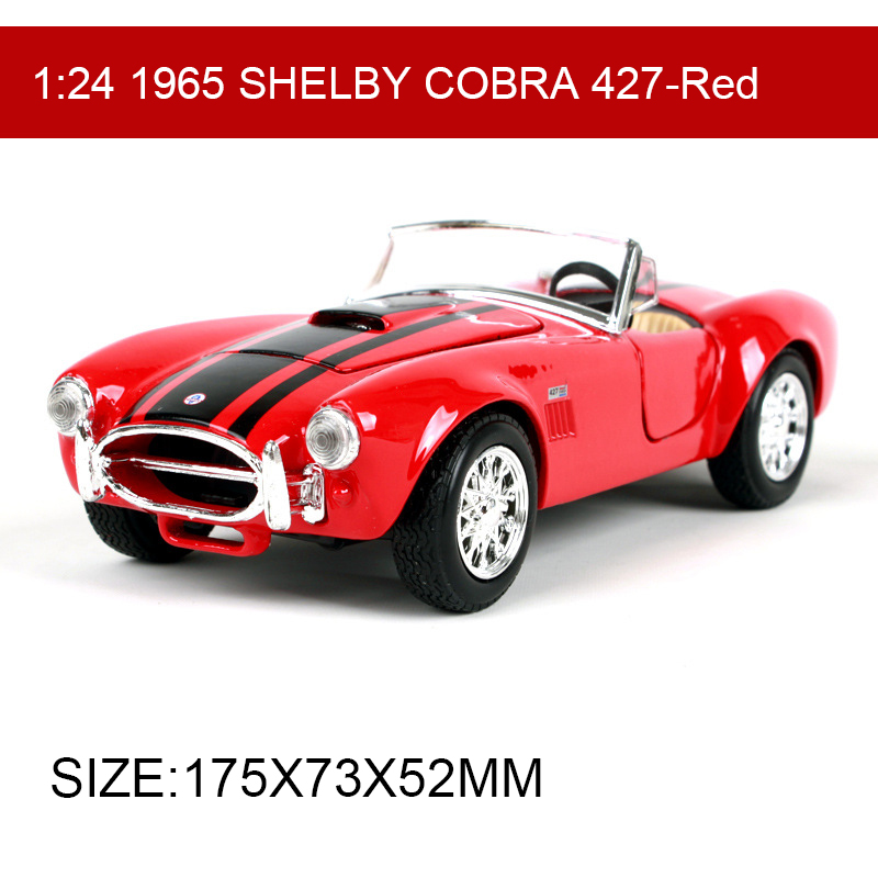 Maisto 1:24 1965 SHELBY COBRA 427 Diecast Model Car Metal Car Kids Toys Roadster Car simulation model For Gift Collection
