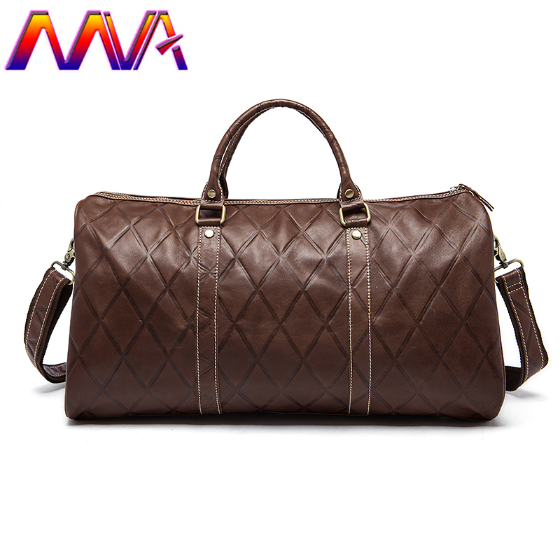 MVA Popular genuine leather travel bag with cow leather men suitcase travelling bag for fashion women luggage travelling bags эстамп travelling 8 шт