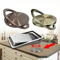 Stainless Steel Flush Recessed Built in Balance Flap Lid Cover Trash Bin Garbage Can Kitchen Counter Top