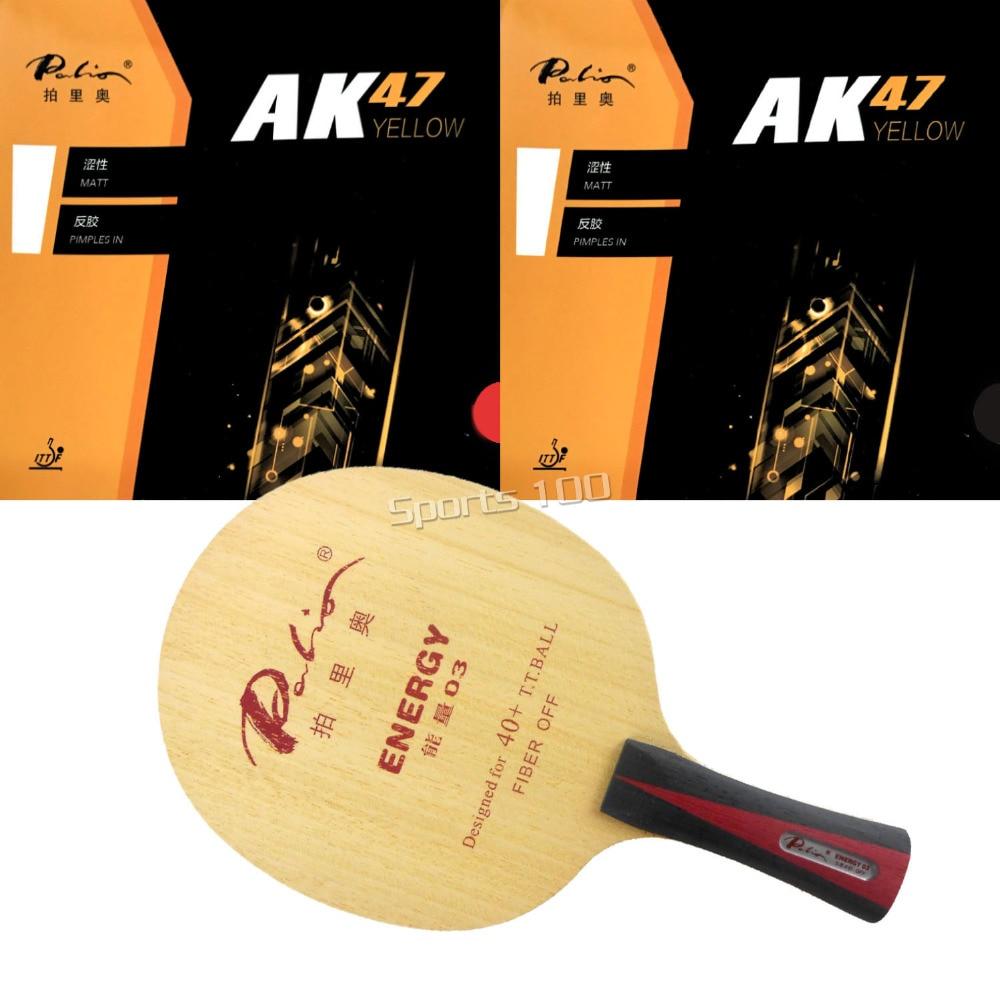 Pro Combo Racket Palio Energy 03 With 2 Pieces Palio AK47 YELLOW