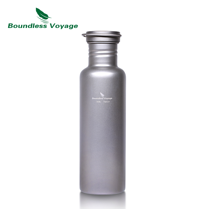 Boundless Voyage Outdoor Titanium Bottle with Titanium Lid Camping Cycling Hiking Sports Water Cup Mug 25.6oz/750ml Ti1507B tito titanium bottle bicycle drinkware bottle outdoor camping cycling hiking sport bike titanium lid 750ml titanium bike bottle