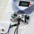 Gravata pajarita Bolo Tie Patrón de Ojo Diseñador 2015 Moda Americana Casual Vestido de Traje Vestido De Novia Bowtie Corbatas Bolo Bolo empate