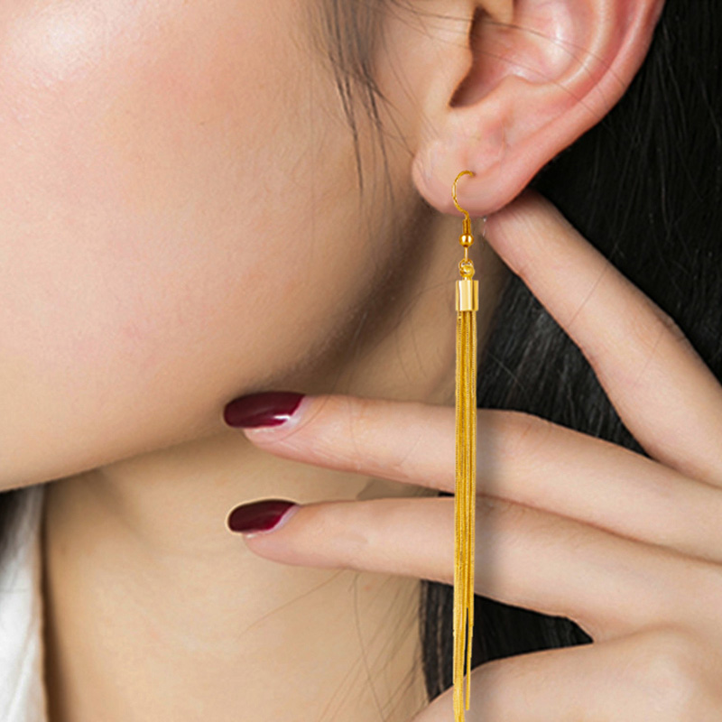 Jiayiqi Vintage Long Earrings Silver color Tassel Earrings High Quality Earrings Fashion Jewelry for Women Best Gift 2018 2