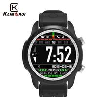 Купить с кэшбэком Kaimorui Smart Watch Android 6.0 OS KC03 4G Smartwatch Men IP67 Waterproof 1GB+16GB SIM Card Bluetooth Watch Changeable Band