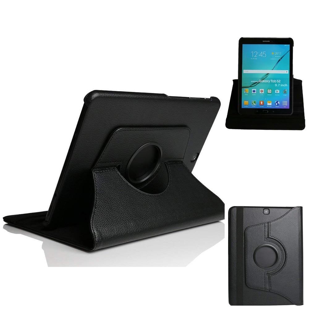 Tab S2 9.7 Tablet SM-T810 T815 T813 T819-fodral Väska 360 Roterande Ställ Auto Wake / Sova för Samsung Galaxy Tab S2 9,7 Skyddshölje